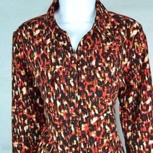 Notations Women's Blouse Size M Long Sleeve Fall
